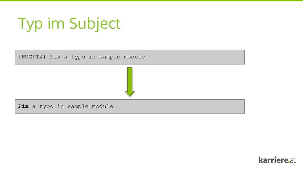 Typ im Subject [BUGFIX] Fix a typo in sample mo...