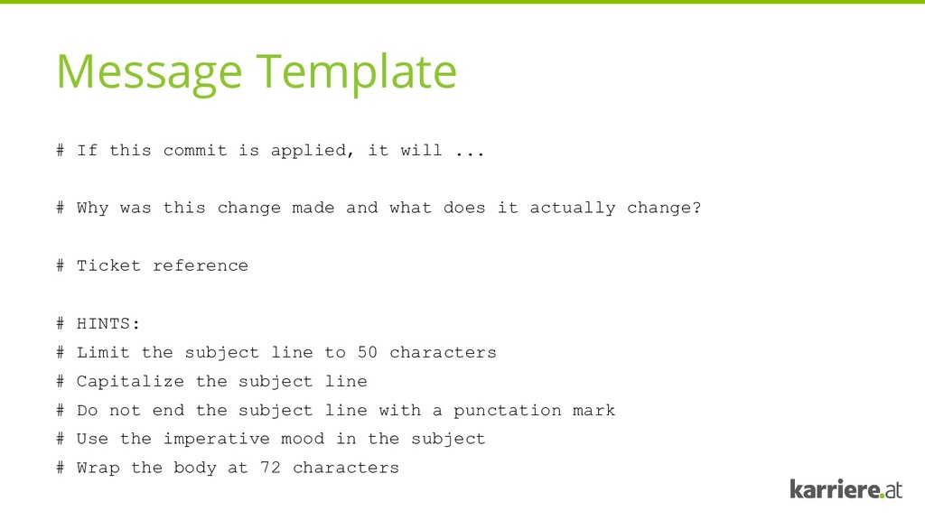 Message Template # If this commit is applied, i...