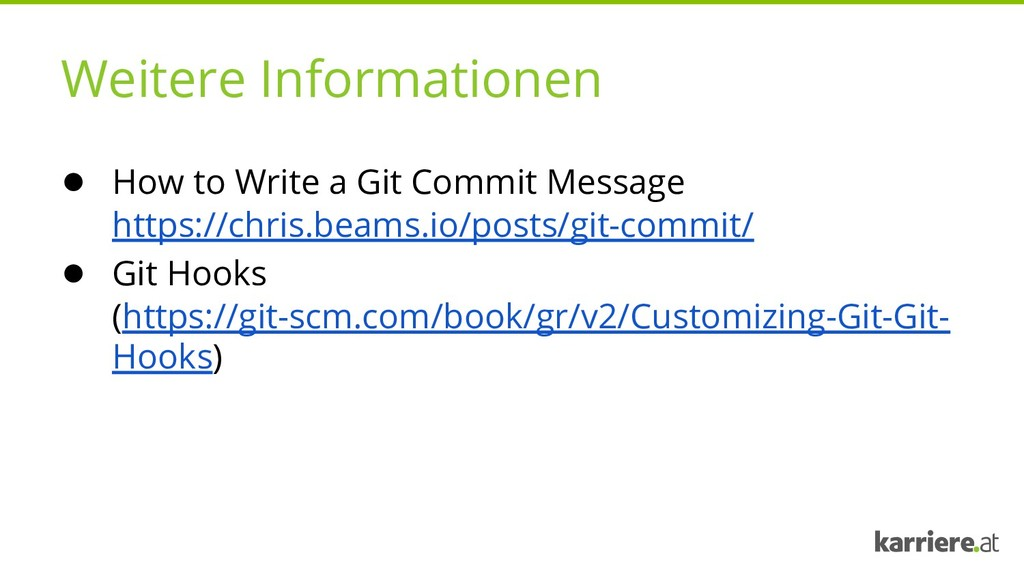 Weitere Informationen ● How to Write a Git Comm...