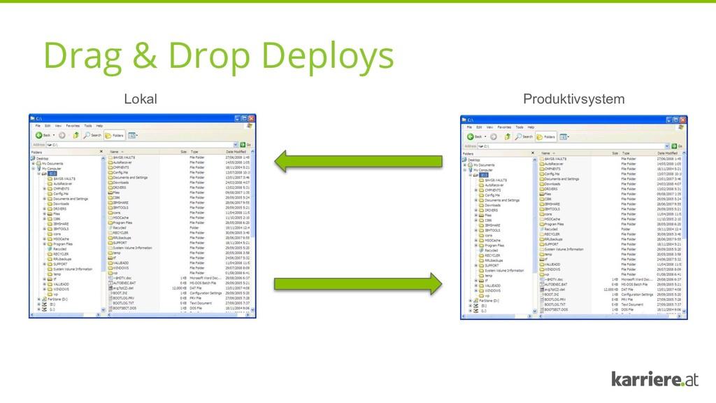 Drag & Drop Deploys Lokal Produktivsystem