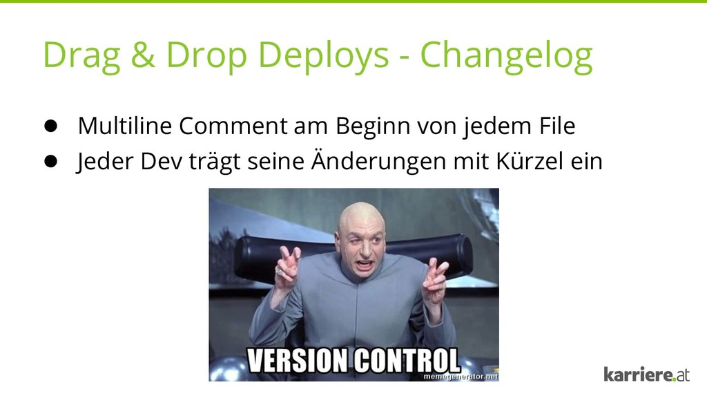 Drag & Drop Deploys - Changelog ● Multiline Com...
