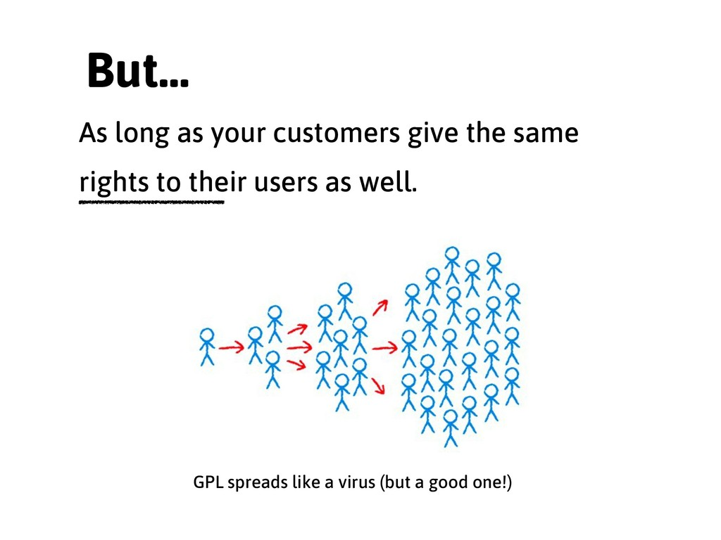 As long as your customers give the same rights ...