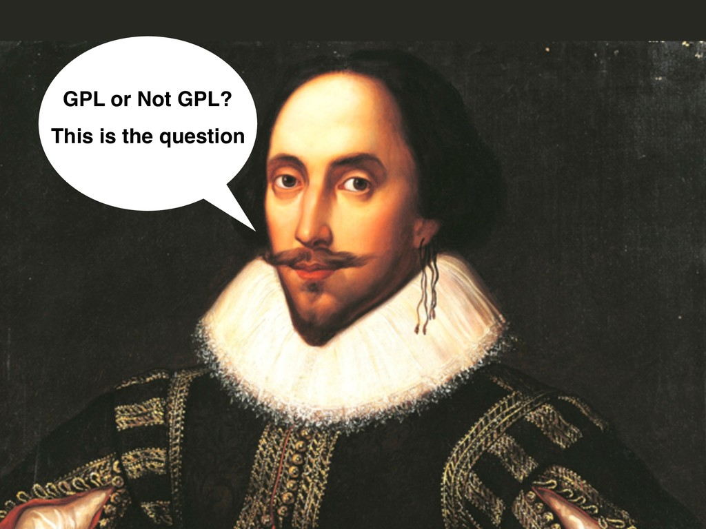 GPL or Not GPL? This is the question