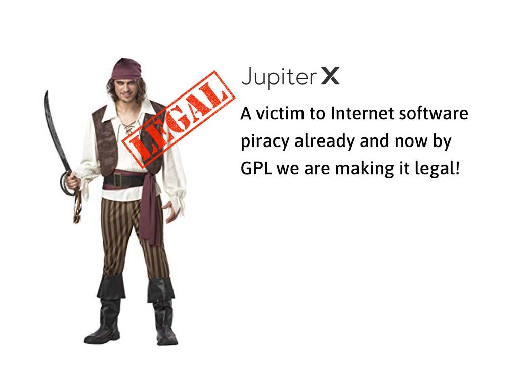 A victim to Internet software piracy already an...