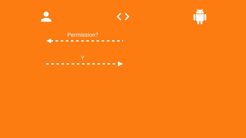 Permission? Y