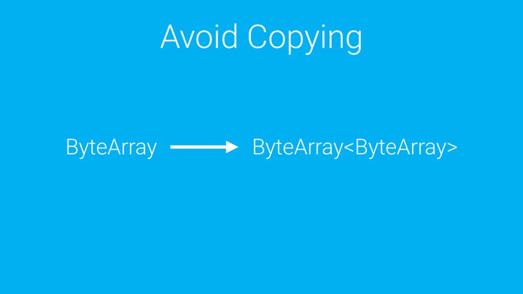 Avoid Copying ByteArray ByteArray<ByteArray>