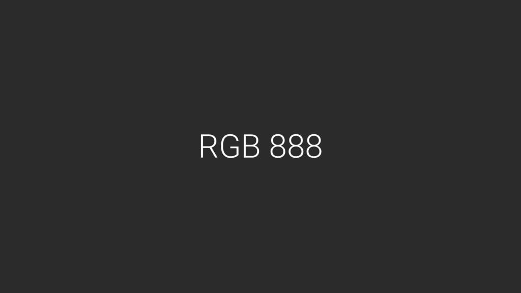 RGB 888