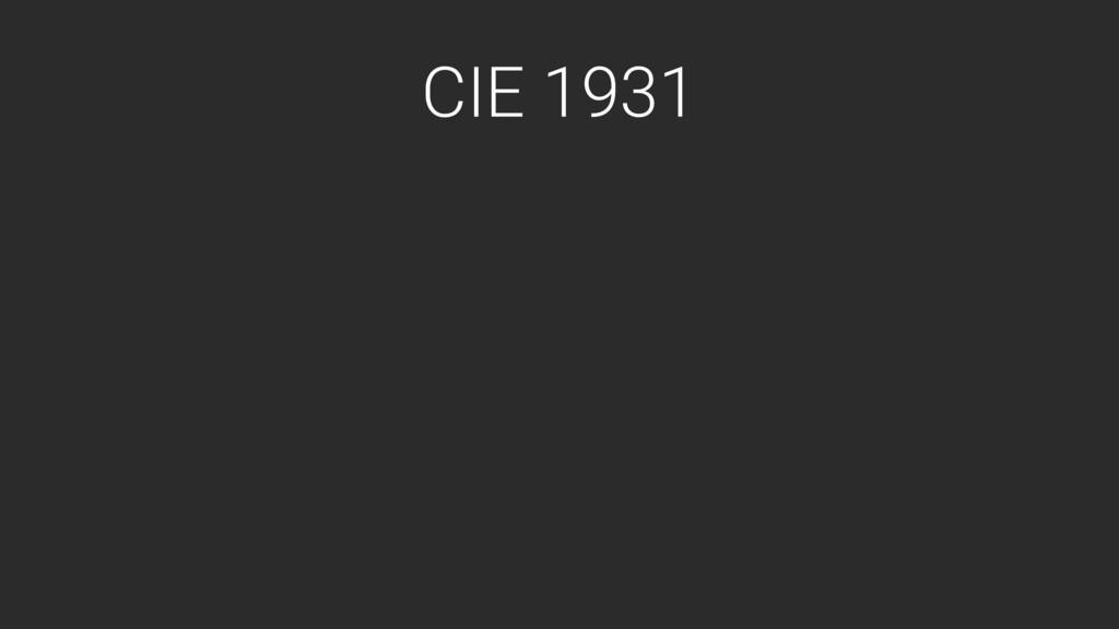 CIE 1931