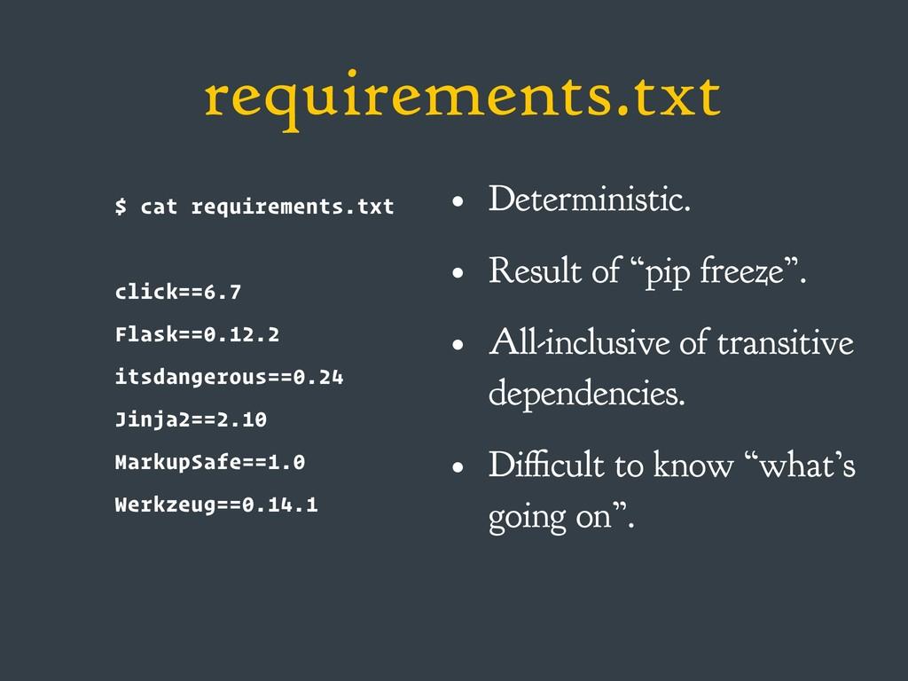 requirements.txt $ cat requirements.txt click==...