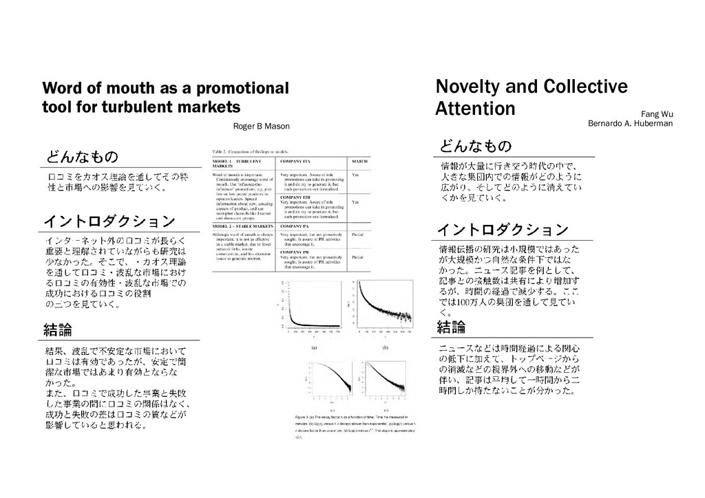 Word of mouth as a promotional tool for turbule...