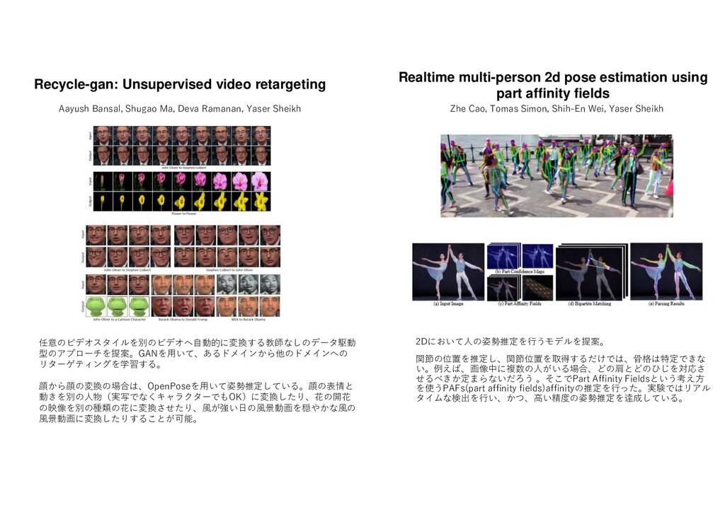 2D い 人の姿勢推定 行う 提案 関節の位置 推定し 関節位置 取得する け 骨格 特定 い...