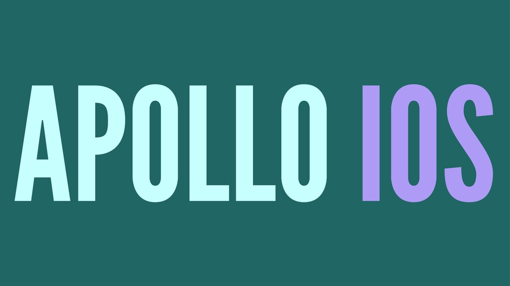 APOLLO IOS