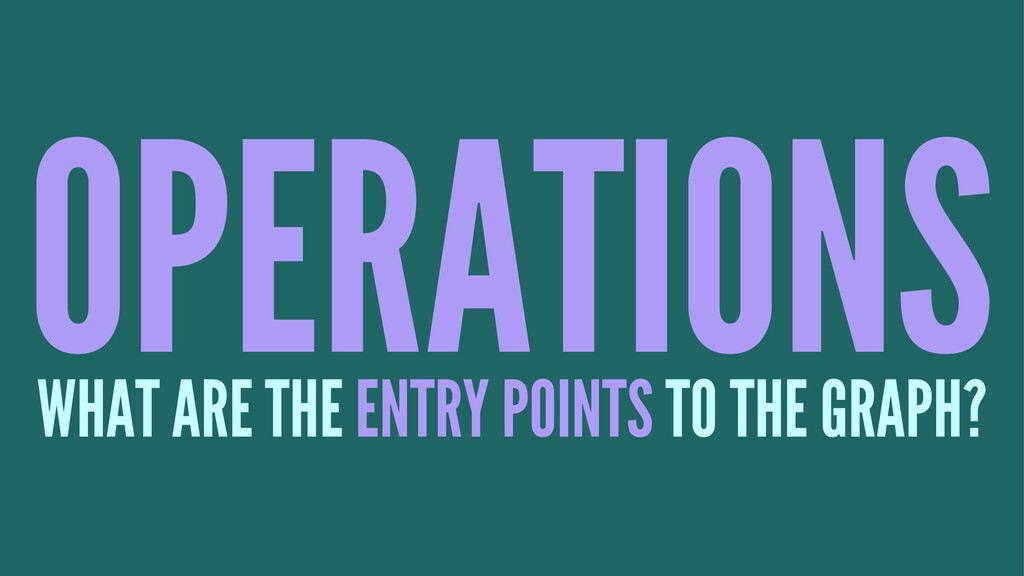 OPERATIONS WHAT ARE THE ENTRY POINTS TO THE GRA...