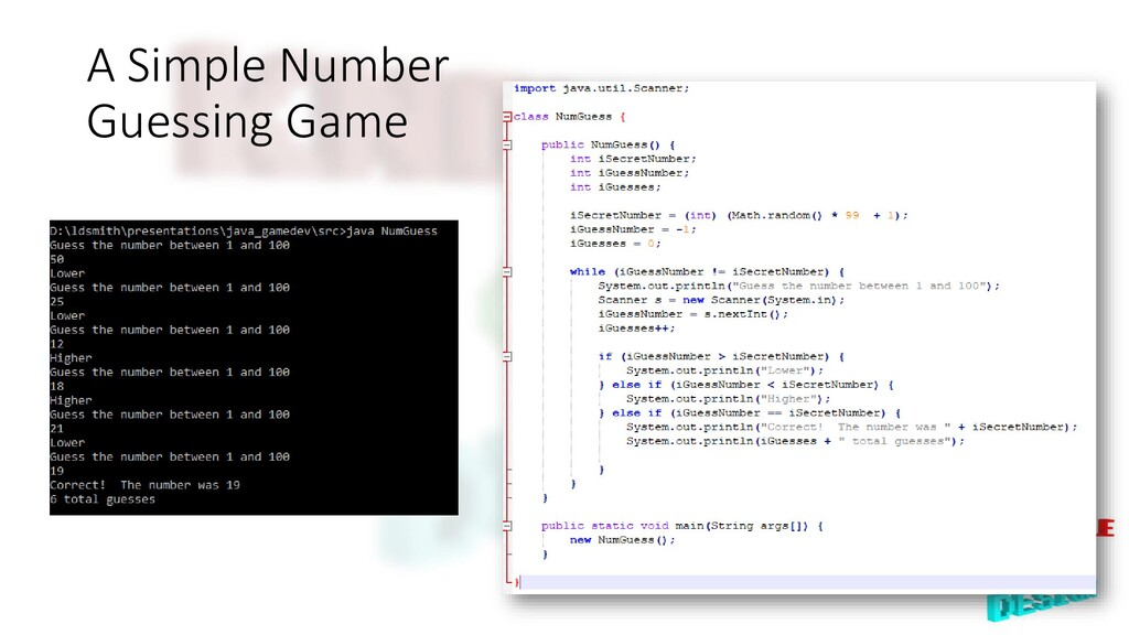 A Simple Number Guessing Game
