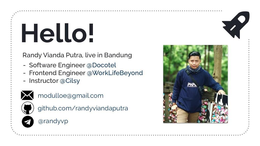Randy Vianda Putra, live in Bandung - Software ...