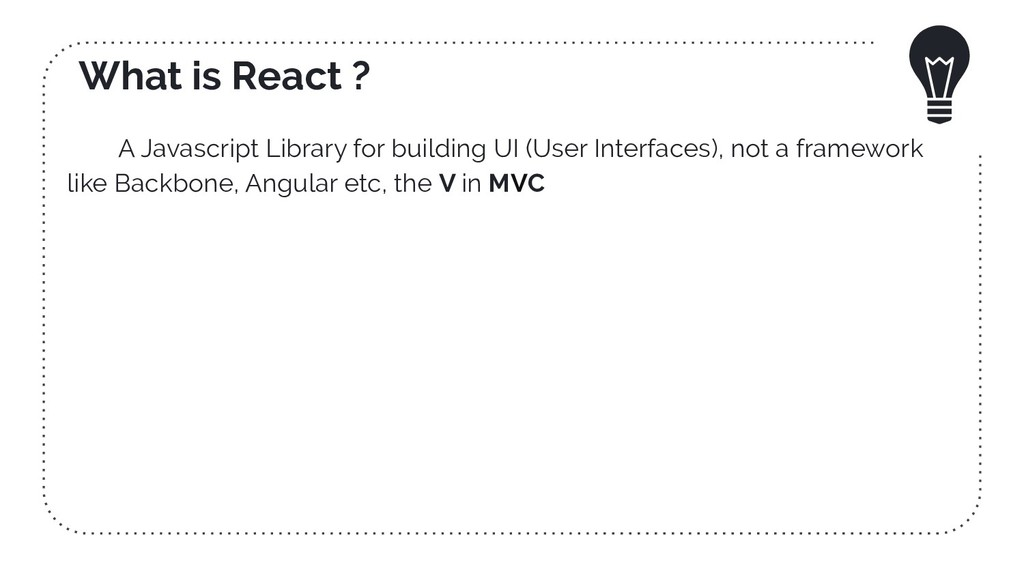 What is React ? A Javascript Library for buildi...