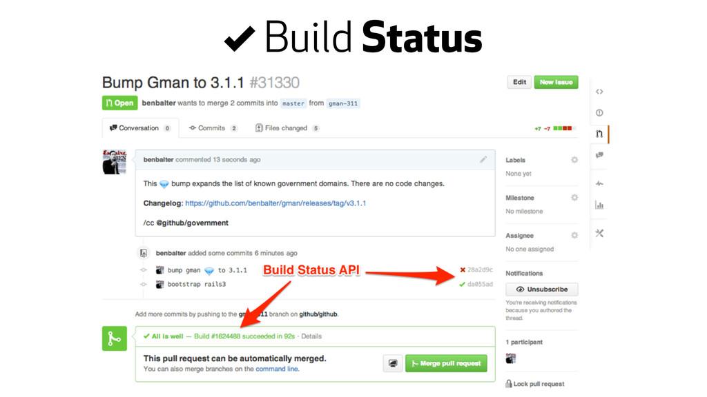 , Build Status