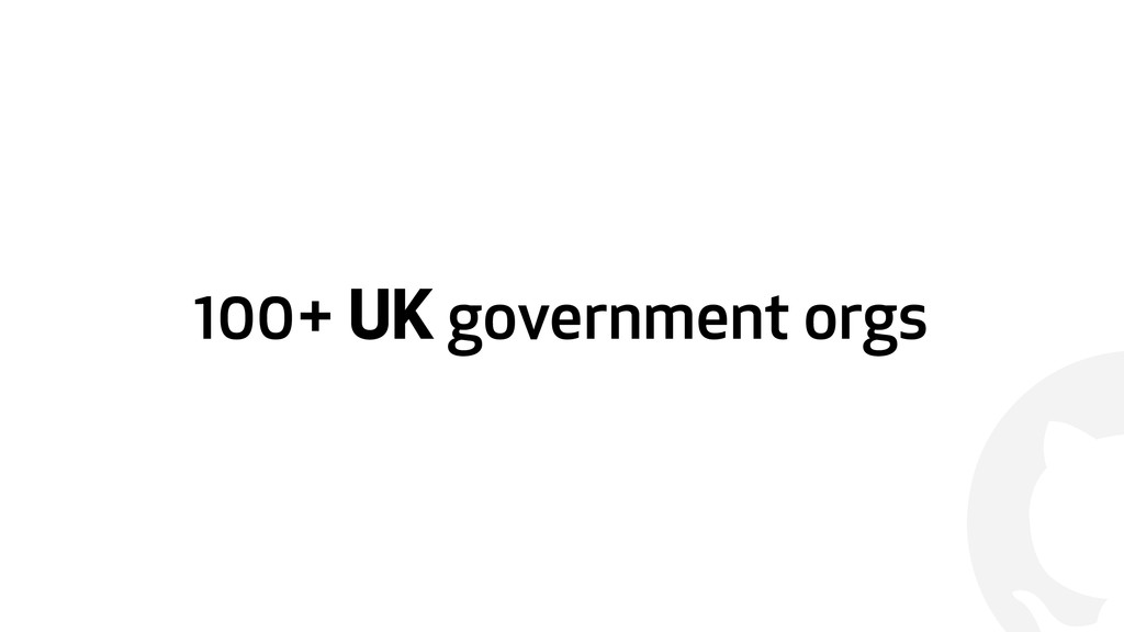 ! 100+ UK government orgs