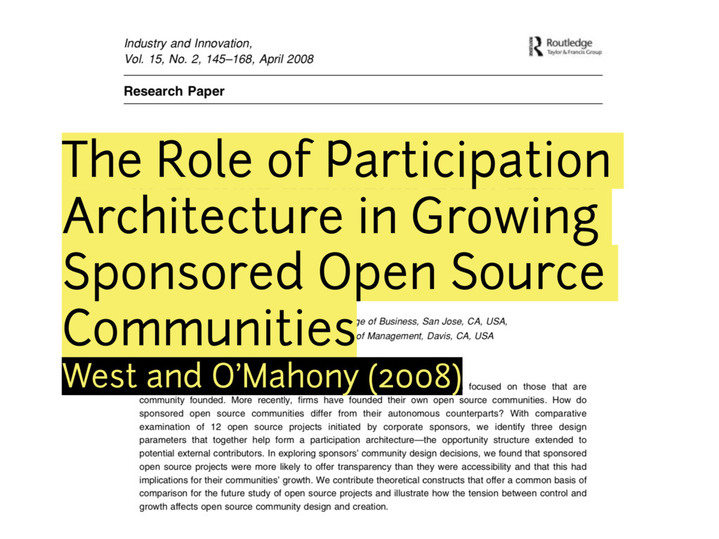 The Role of Participation Architecture in Growi...
