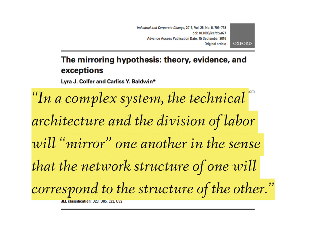 """In a complex system, the technical architectur..."