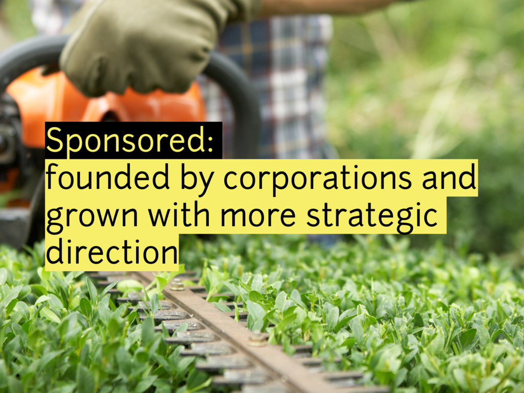 Sponsored: founded by corporations and grown wi...