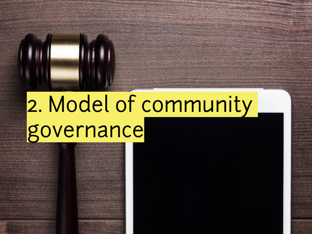 2. Model of community governance
