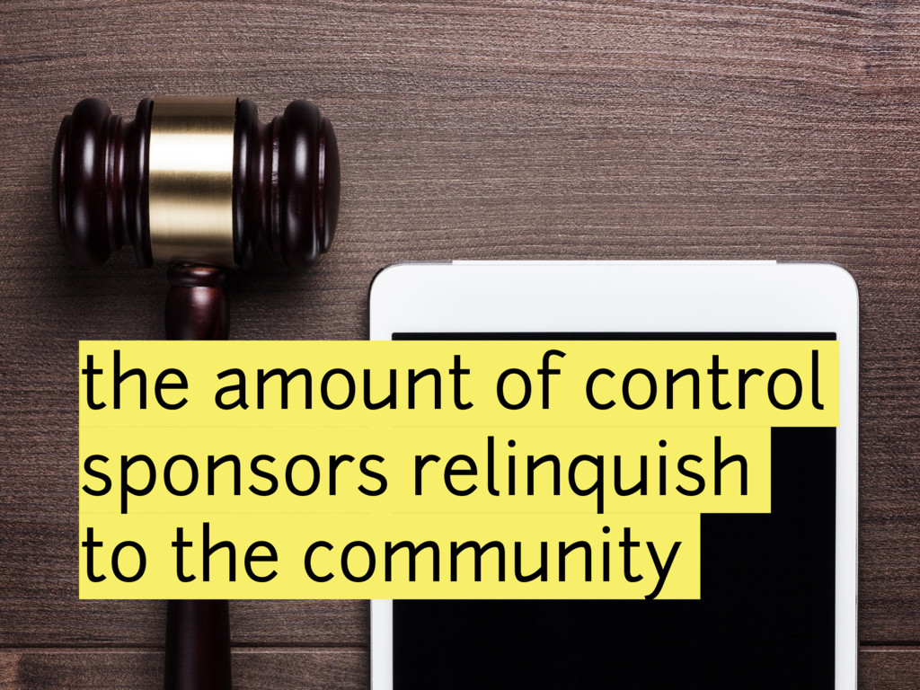 the amount of control sponsors relinquish to th...