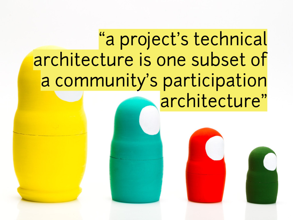 """a project's technical architecture is one subs..."