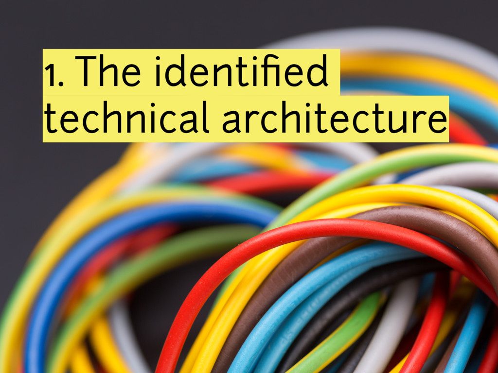 1. The identified technical architecture
