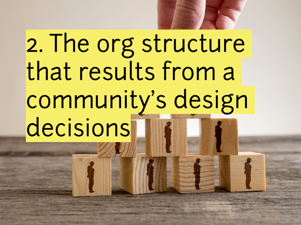 2. The org structure that results from a commun...