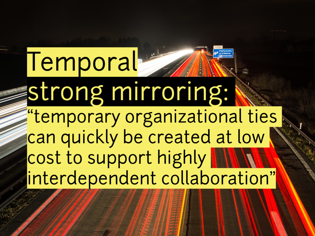 "Temporal strong mirroring: ""temporary organizat..."