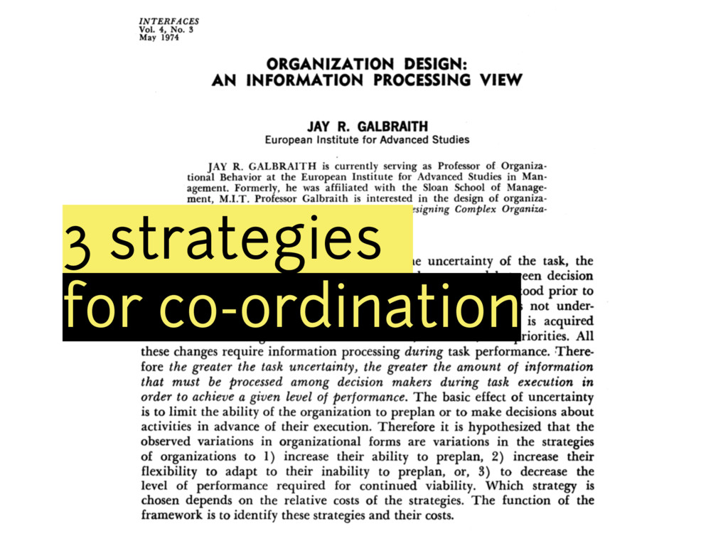 3 strategies for co-ordination