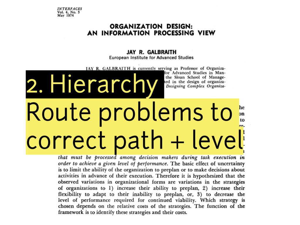2. Hierarchy Route problems to correct path + l...