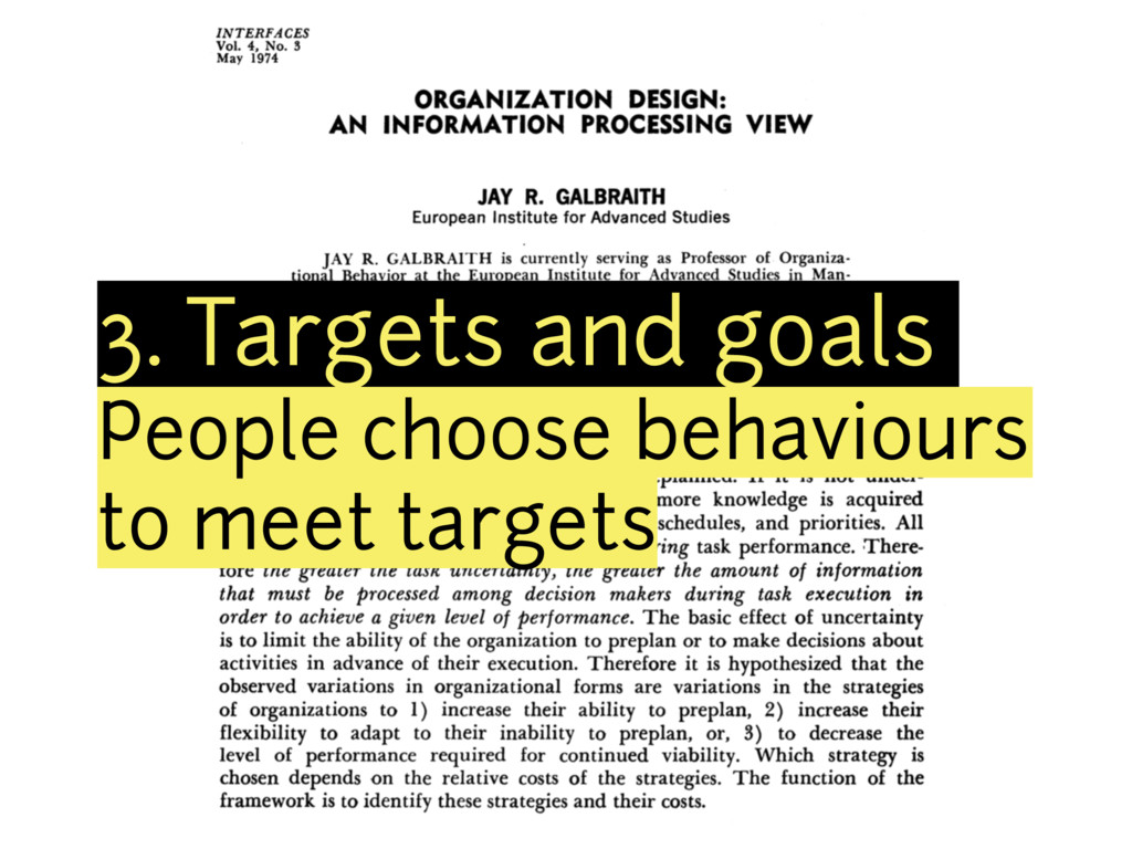 3. Targets and goals People choose behaviours t...