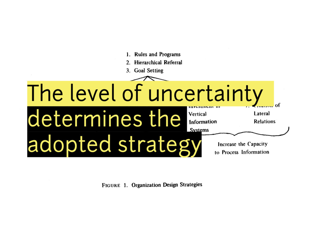 The level of uncertainty determines the adopted...