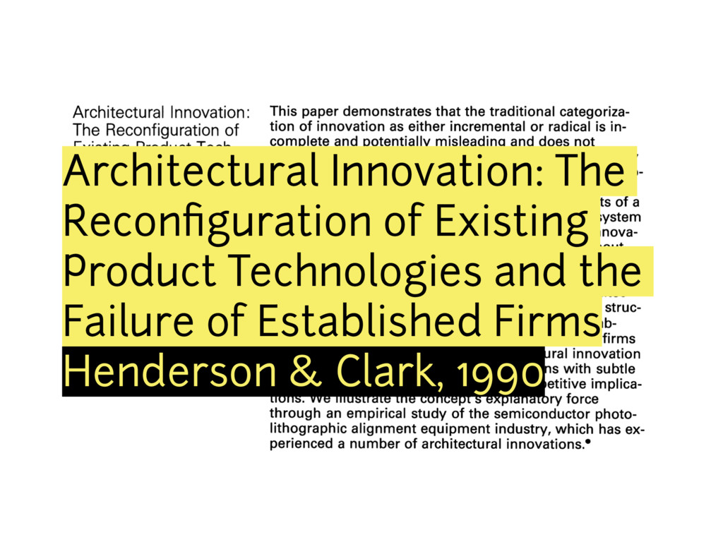 Architectural Innovation: The Reconfiguration of...