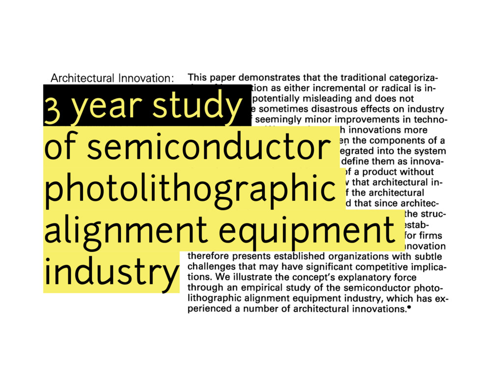 3 year study of semiconductor photolithographic...
