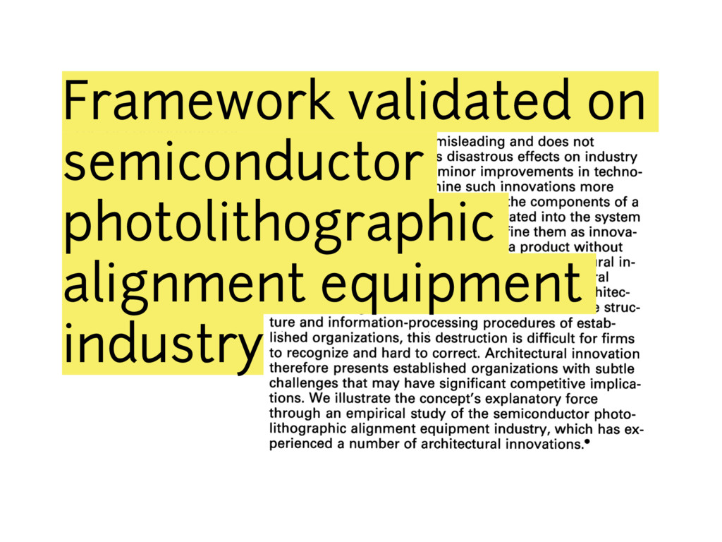 Framework validated on semiconductor photolitho...