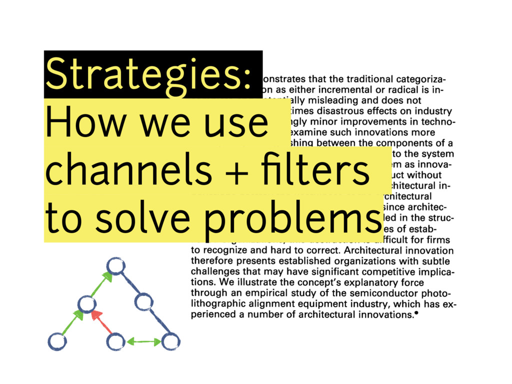 Strategies: How we use channels + filters to sol...