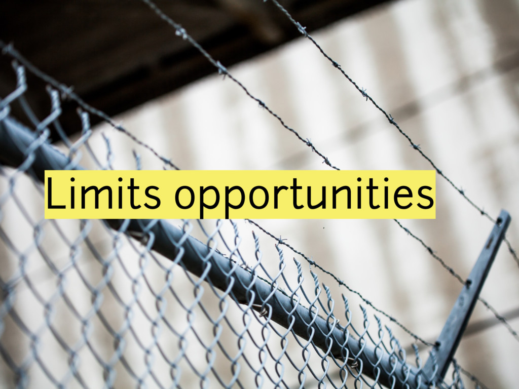 Limits opportunities