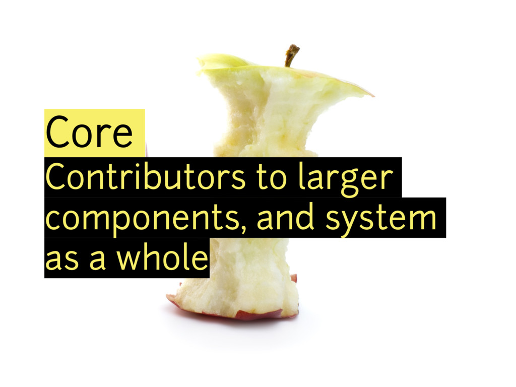 Core Contributors to larger components, and sys...