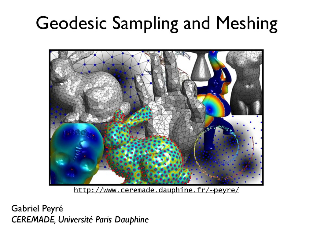 Geodesic Sampling and Meshing Gabriel Peyré CER...