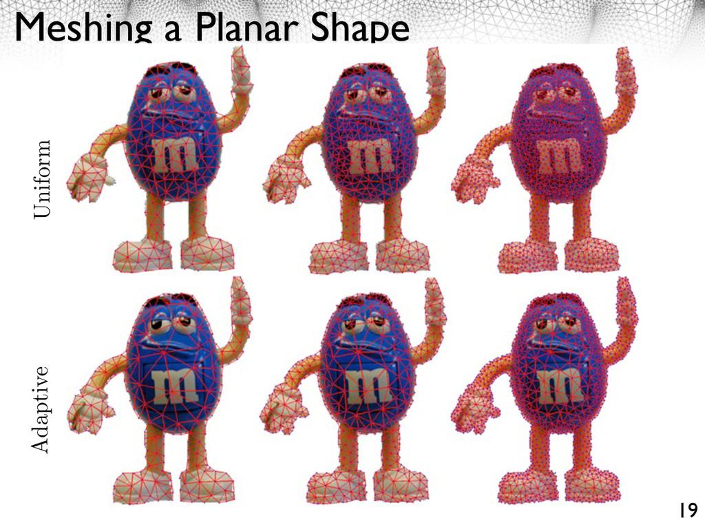 Meshing a Planar Shape 19 Uniform Adaptive