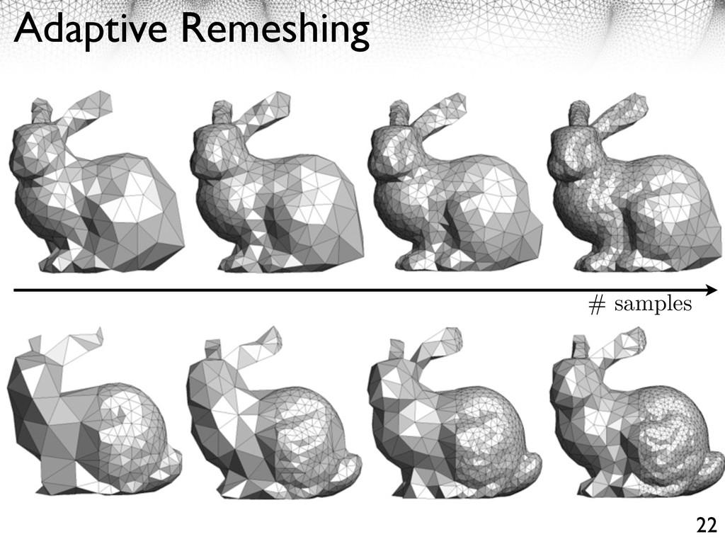 Adaptive Remeshing 22 # samples