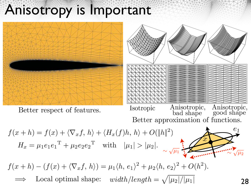 Anisotropy is Important 28 Better respect of fe...