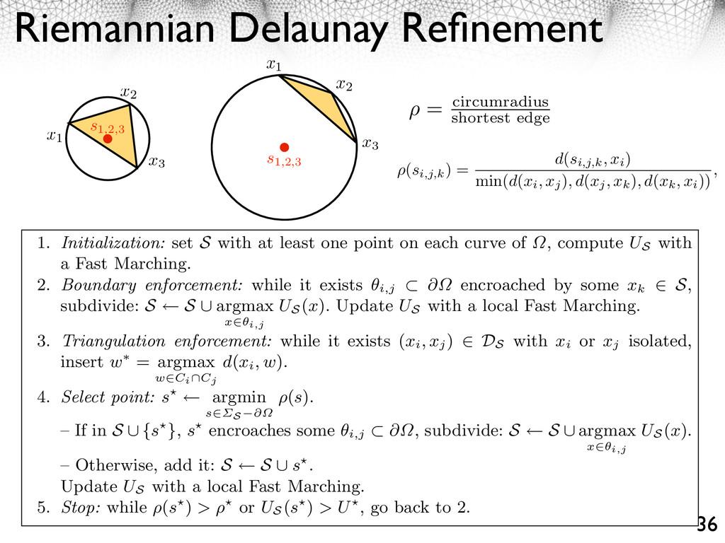 Riemannian Delaunay Refinement 36 It extends the...