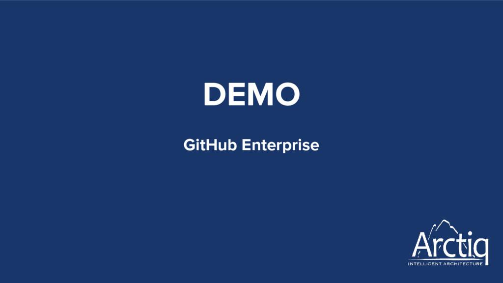 DEMO GitHub Enterprise