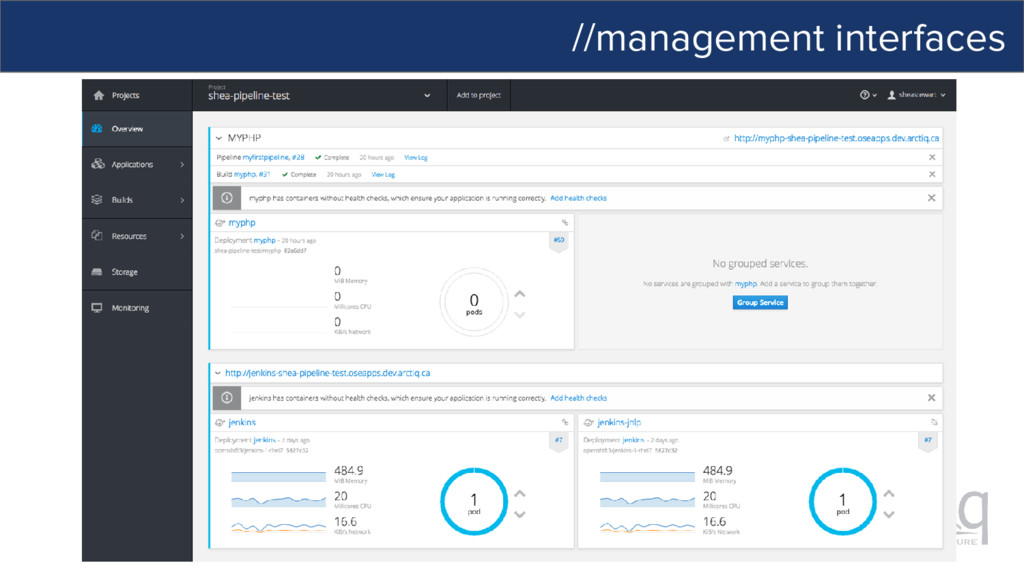 //management interfaces