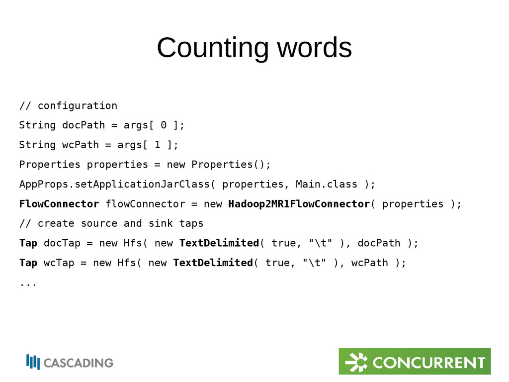 Counting words // configuration String docPath ...