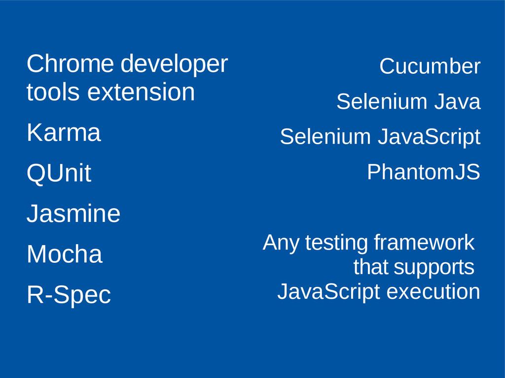 Chrome developer tools extension Karma QUnit Ja...